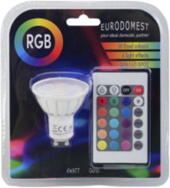 bol.com | RGB Ledlamp GU10 4W | RGB LED Spot | incl ...