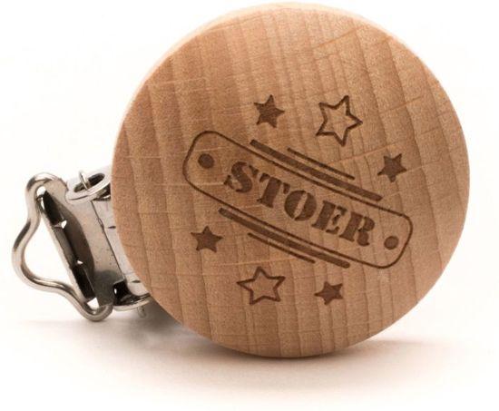 """Durable Houten Speenclip """"STOER"""" 2 Stuks"""