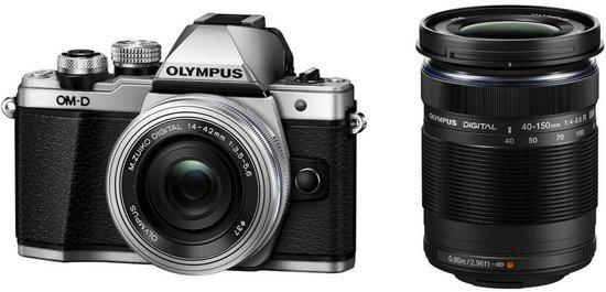 Olympus OM-D E-M10 Mark II Zilver + 14-42mm + 40-150mm