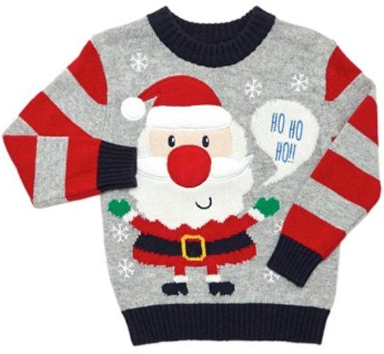 Kersttrui Met Muziek.Bol Com Kerst Trui Kerstman Met Licht En Muziek Maat 86 92