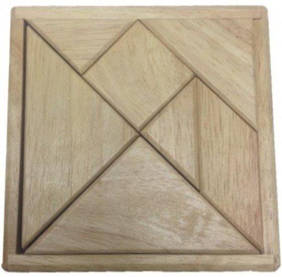 Tangram Rubberwood blank 12cm
