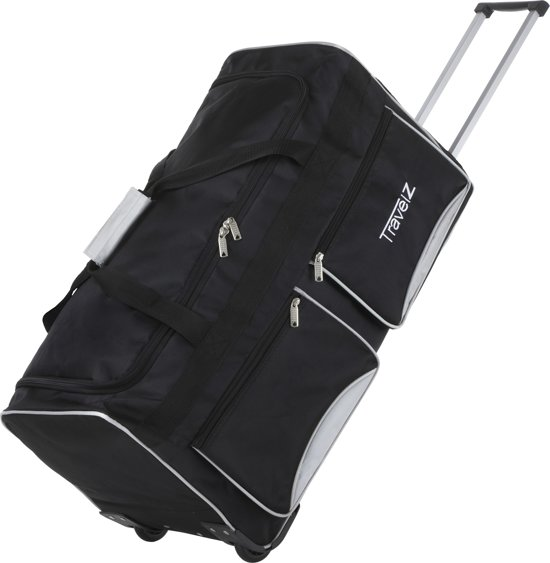 TravelZ wieltas 68 cm - 90 liter - Zwart