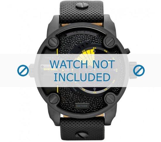 Diesel horlogeband DZ7292 Leder Zwart 24mm