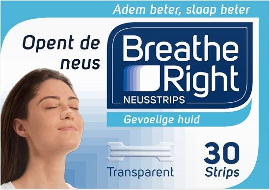 Breathe Right - 30 st - Neusstrips - Transparant - Antisnurkmiddel