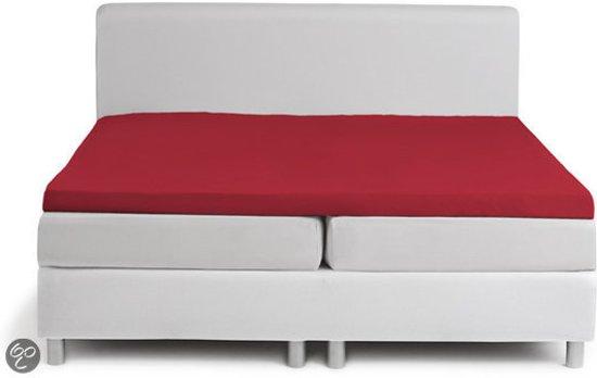 Hoeslaken Single jersey topper - 180 x 210 cm (24) red (tot 8 cm) Damai