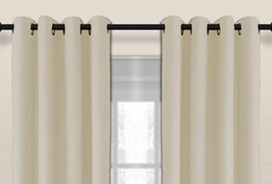 larson luxe blackout gordijn verduisterend ringen beige 15x25m