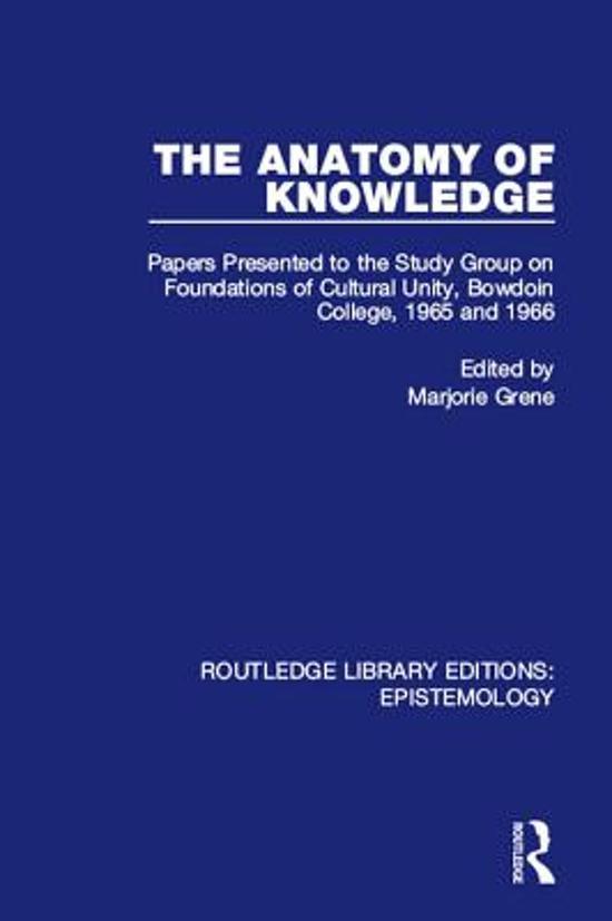 bol.com   The Anatomy of Knowledge (ebook)   9781317440376   Boeken