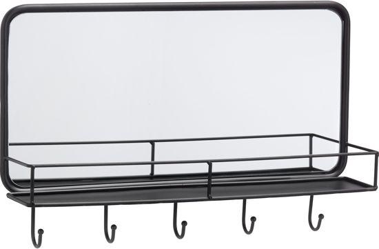 Spiegel Met Plankje : Bol halspiegel industrieel met plankje en haakjes