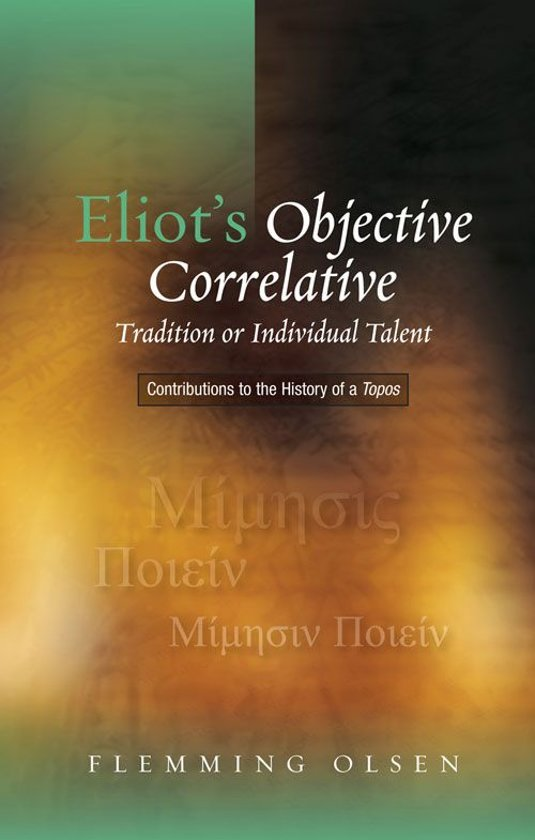 an analysis of t s eliots tradition and the individual talent T s eliot's preludes in tradition and the individual talent, eliot has averred the difference summary and analysis of the poem the second.