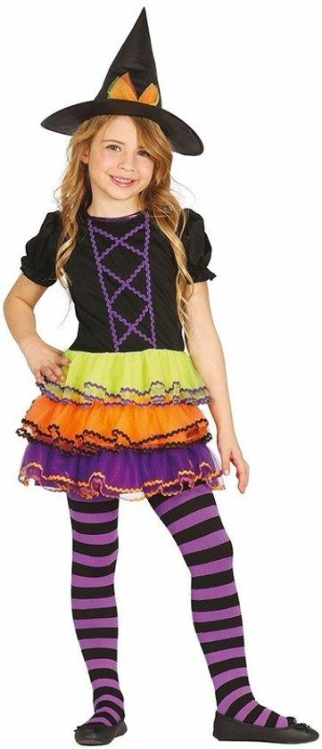 Halloween - Luxe heksen kostuum / outfit Brujita voor meisjes 10-12 jaar (140-152)