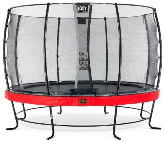 EXIT Elegant Premium trampoline ø366cm met veiligheidsnet Economy - rood