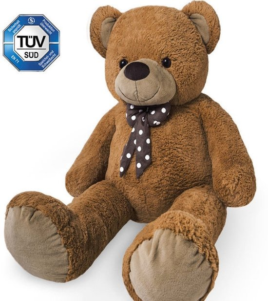 Somultishop Teddybeer 175cm, knuffelbeer, teddy XXXL , knuffel, beer, bruin