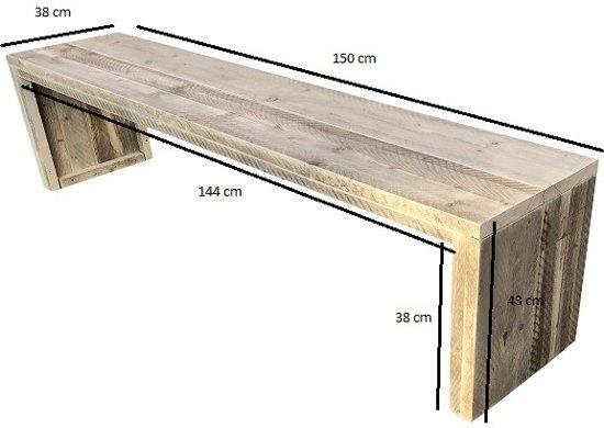 Wood4you - Tuinbank Amsterdam steigerhout -150