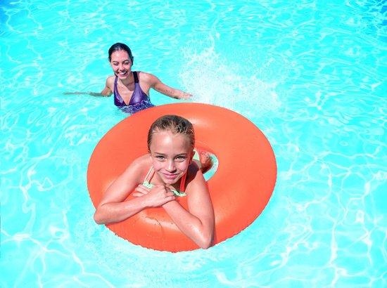 Intex Neon frost zwemring 91 cm oranje