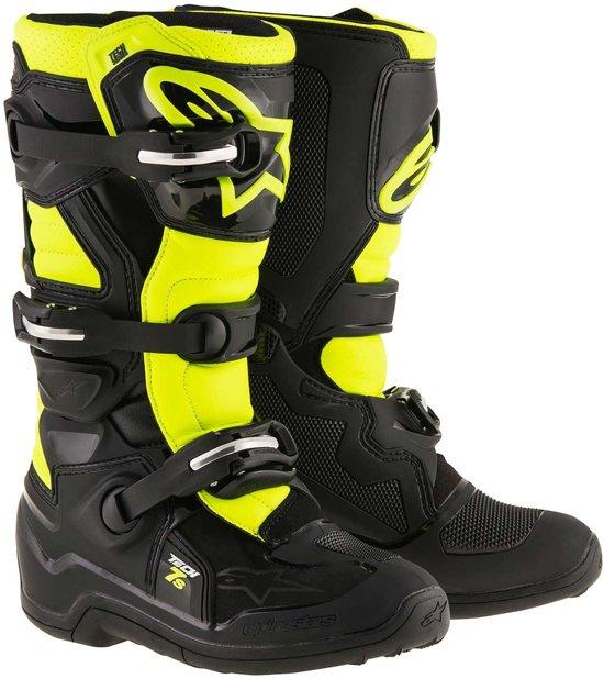Alpinestars Kinder Crosslaarzen Tech 7S Black/Fluor Yellow-37 (EU)