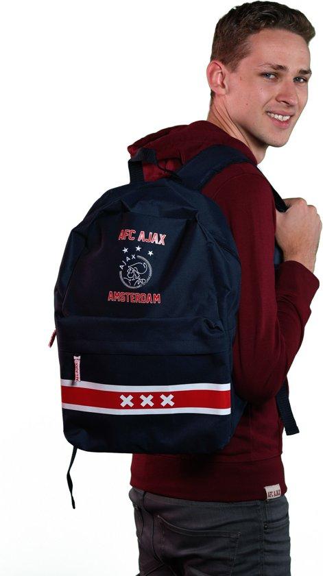 35c2786ef7d bol.com | Ajax Rugzak Logo - 44 X 29 X 14 cm - Donkerblauw