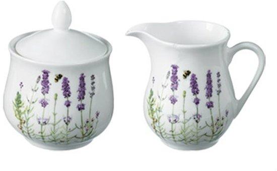 Ashdene suikerpot en melkkan roomset roomstel lavendel thema cadeaus tuin natuur