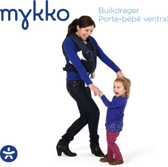Buikdrager - draagzak van Mykko - jeans blauw