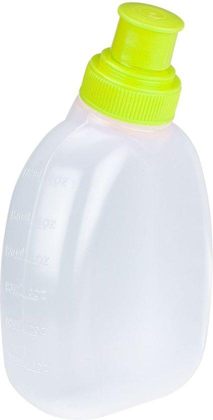 Avento Hardloopriem met 2 Drinkflessen - Zwart/Fluorgeel/Zilver