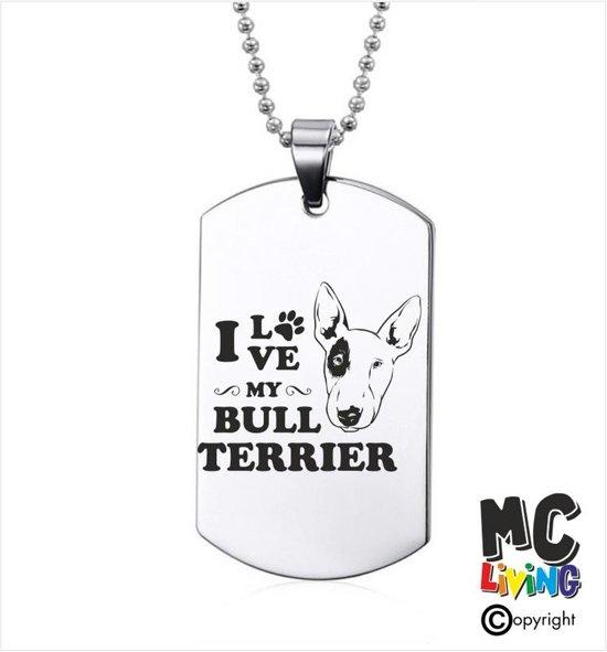 Ketting RVS - I Love My Bull Terrier