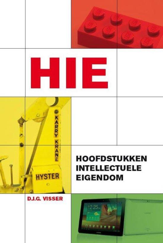 Boek cover Hoofdstukken intellectuele eigendom van Dirk Visser (Paperback)