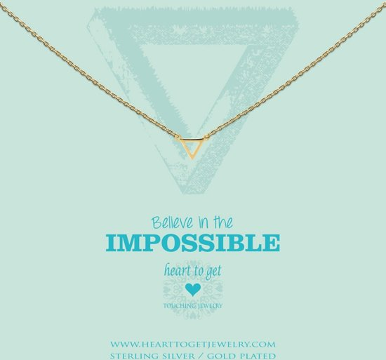 Heart to Get - S Triangle goudkleurige ketting N248STR15G