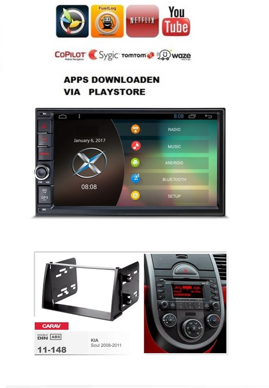 Kia soul navigatie 2008 - 2011 android 6.0 in Tilly