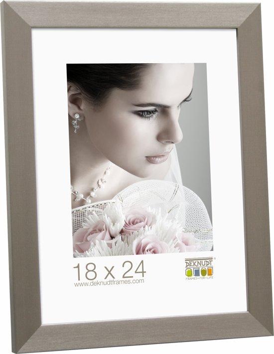bol.com | Deknudt Frames fotokader zilver, smal kunststof fotomaat ...