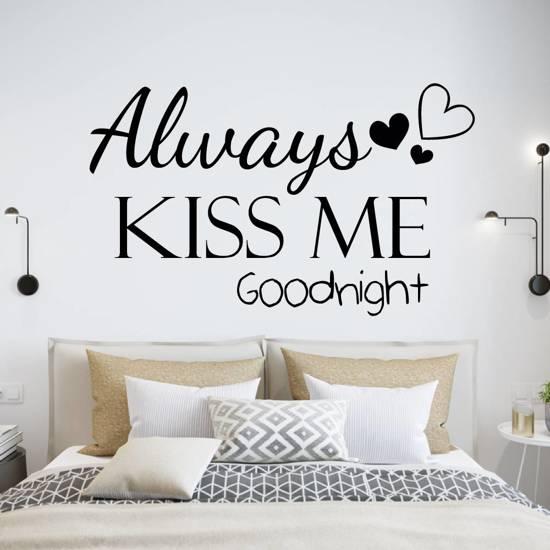 bol.com | Muursticker4sale Muursticker Always kiss me goodnight met ...