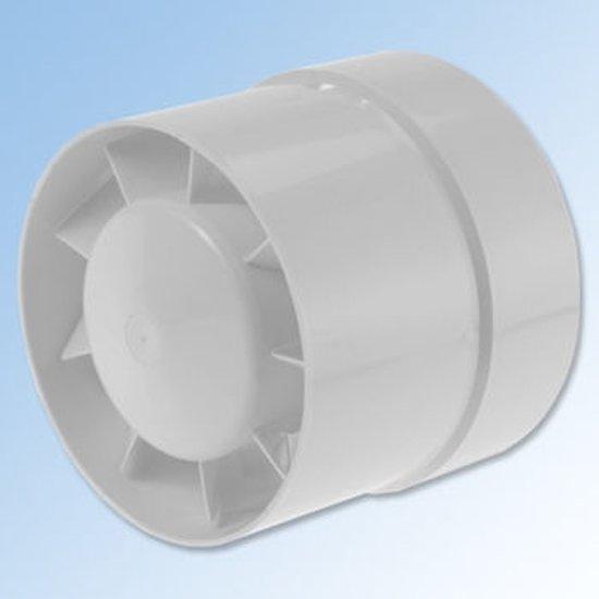 bol.com | Ventilator, buisventilator, 125, wit, ook geschikt voor ...
