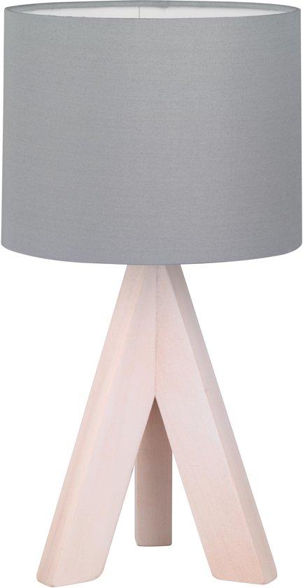 Trio Lighting GING - Tafellamp - E14 fitting, 40W max - Houtkleur