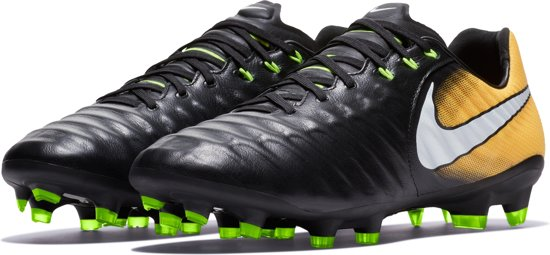 Nike Tiempo Legacy III FG Voetbalschoenen Heren Maat 9 Zwart oranje