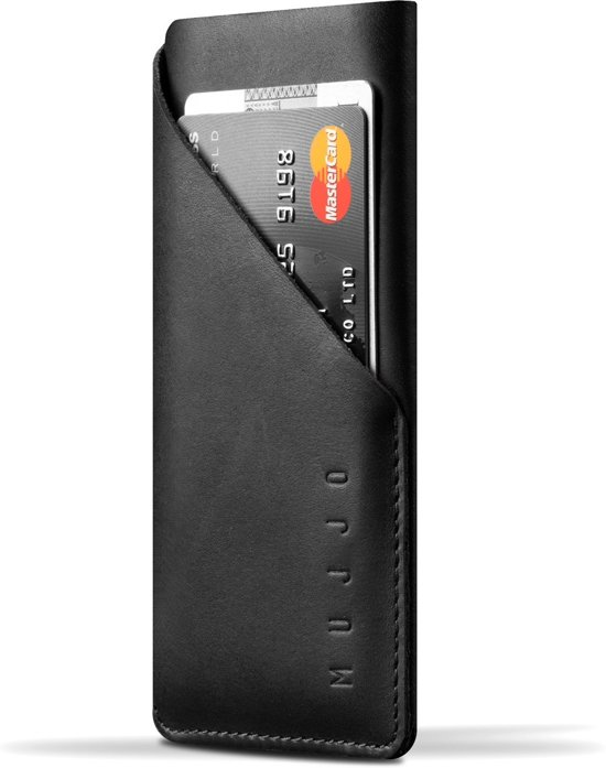 Mujjo Leather Wallet Sleeve for iPhone 7/8 Black