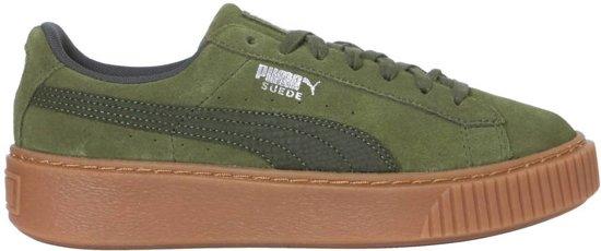 33808eeaf1e bol.com   Puma Sneakers Suede Platform Animal Dames Groen Maat 38,5