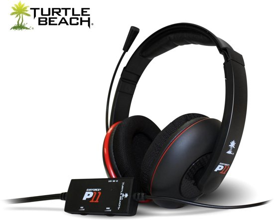 Turtle Beach Ear Force P11 Wired Stereo Gaming Headset - Zwart (PS3 +  PC + Mac)