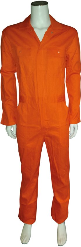 Yoworkwear Overall 100% katoen oranje maat 55
