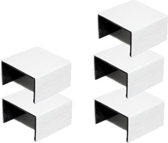 bol.com | Muuto Stacked Clips - Boekenkast - Wit - Aluminium