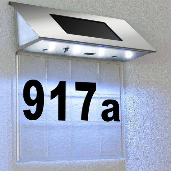 huisnummer ledverlichting zonne energie