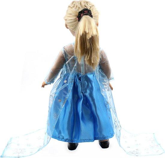 Prinses Elsa jurk voor pop zoals Baby Born of andere poppen met lengte van circa 43 CM - Prinsessen jurkje