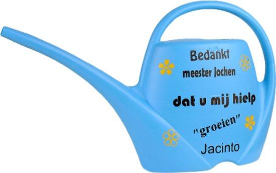 Leuk kado met naam kinder gieter - lichtblauw