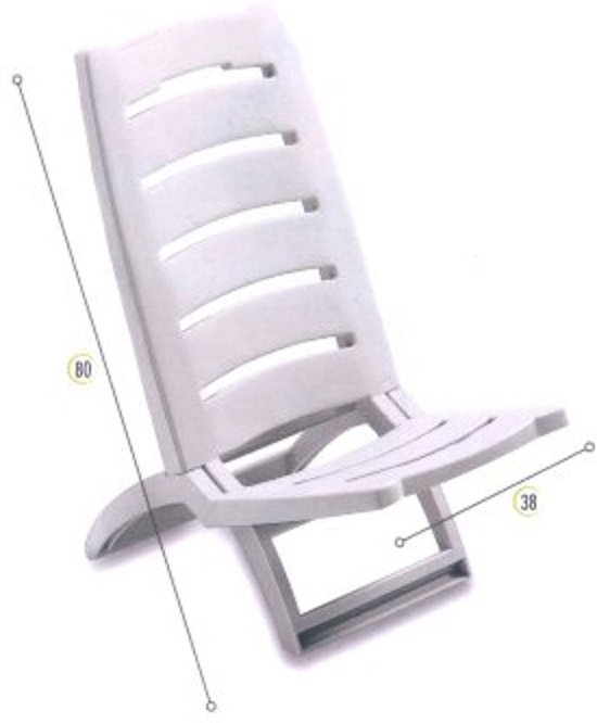Verstelbare Lage Strandstoel.Strandstoel Wit