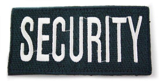 Embleem Security dik klittenband blauw