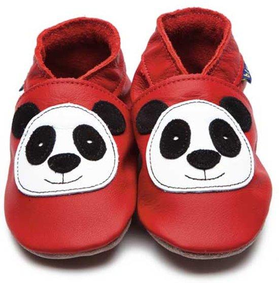 Inch Blue babyslofjes panda red maat 4XL (19 cm)