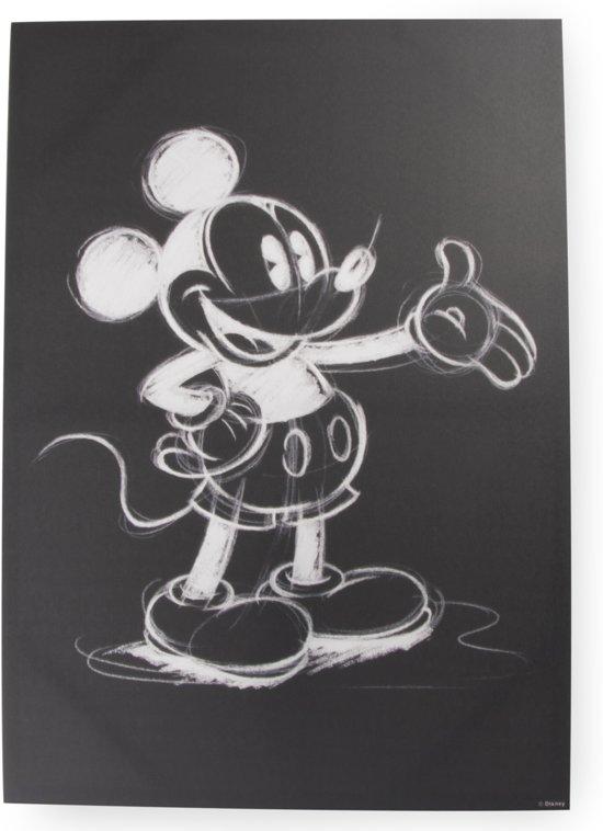 Nieuw bol.com | Disney - Canvas Schilderij - Mickey tekening - zwart/wit QY-12