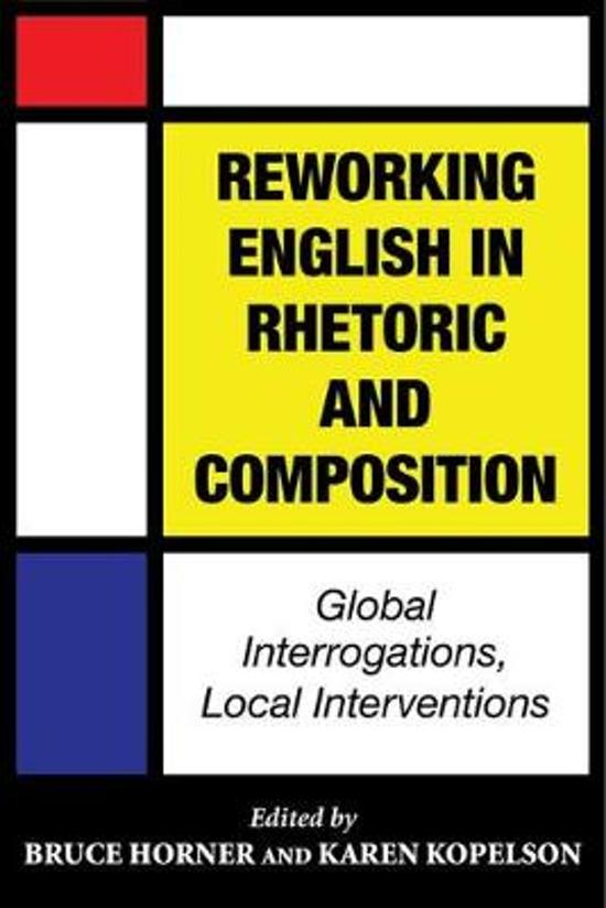 Reworking English in Rhetoric and Composition