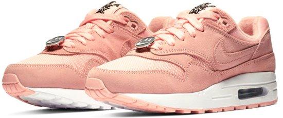Nike Air Max 1 Sneakers - Maat 38.5 - Meisjes - licht roze/wit