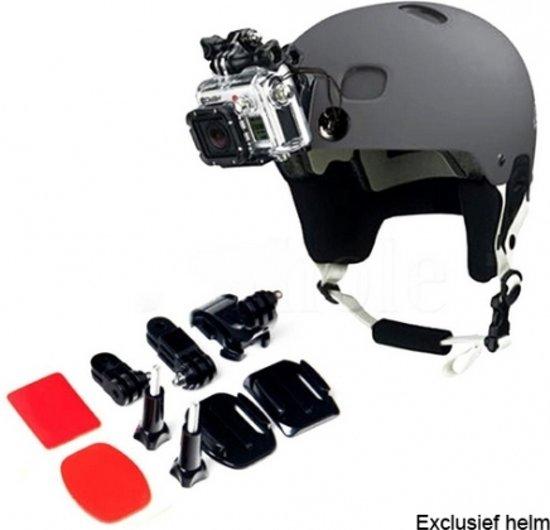 Helm front mount kit met 2x 3M plakker, GoPro helmet mount