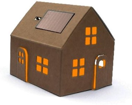 Bouwpakket huisje met zonnepaneel
