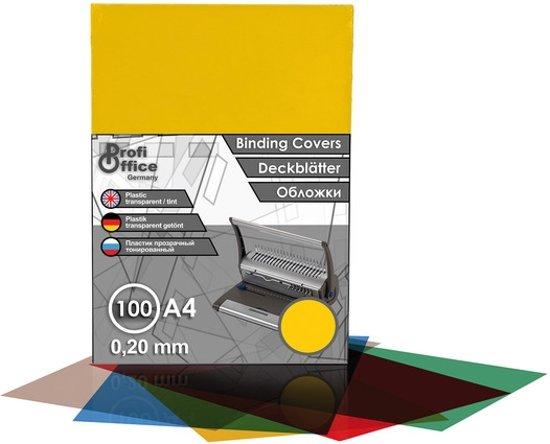 schutbladen ProfiOffice A4 200 micron 100 stuks transparant geel