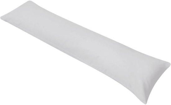 vidaXL Zijslaapkussen 40x145 cm grijs